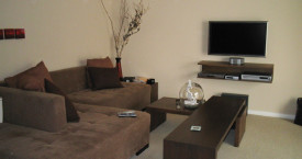 coffee tables and audio wall unit